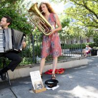 David and Lydia Busking at the French Market, New Orleans