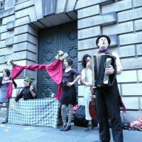 Shilling with Spielpalast Cabaret for our show at the Edinburgh Fringe Festival