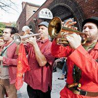 The Brass Balagan in Davis Square, Somerville, MA